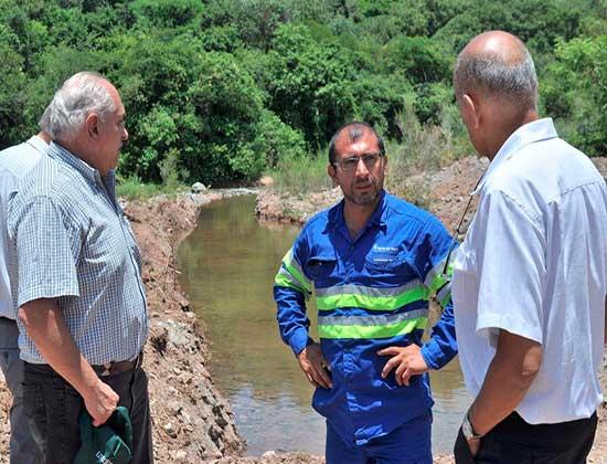 García Salado recorrió obras para mejorar el servicio de provisión de agua en Metán
