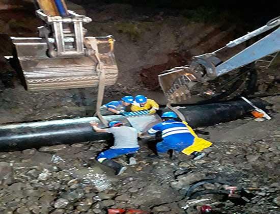 Finalizaron los trabajos para la reparación del Acueducto Norte