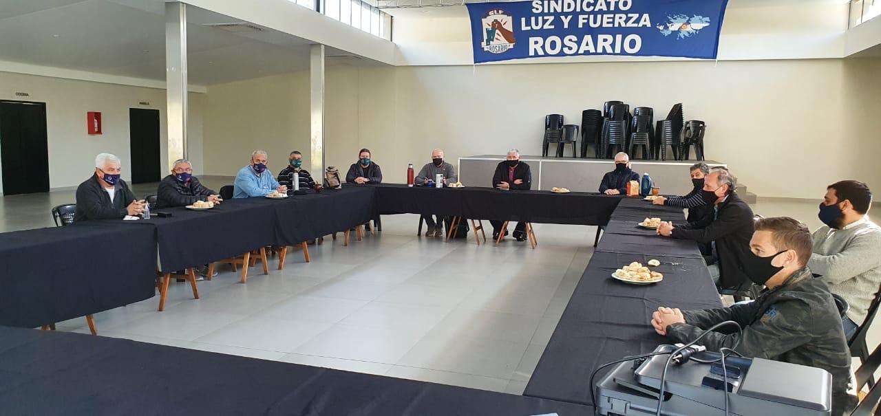 El Secretario y el Subsecretario de la FATLyF se reunieron con los 7 Sindicatos de Luz y Fuerza de la provincia de Santa Fe