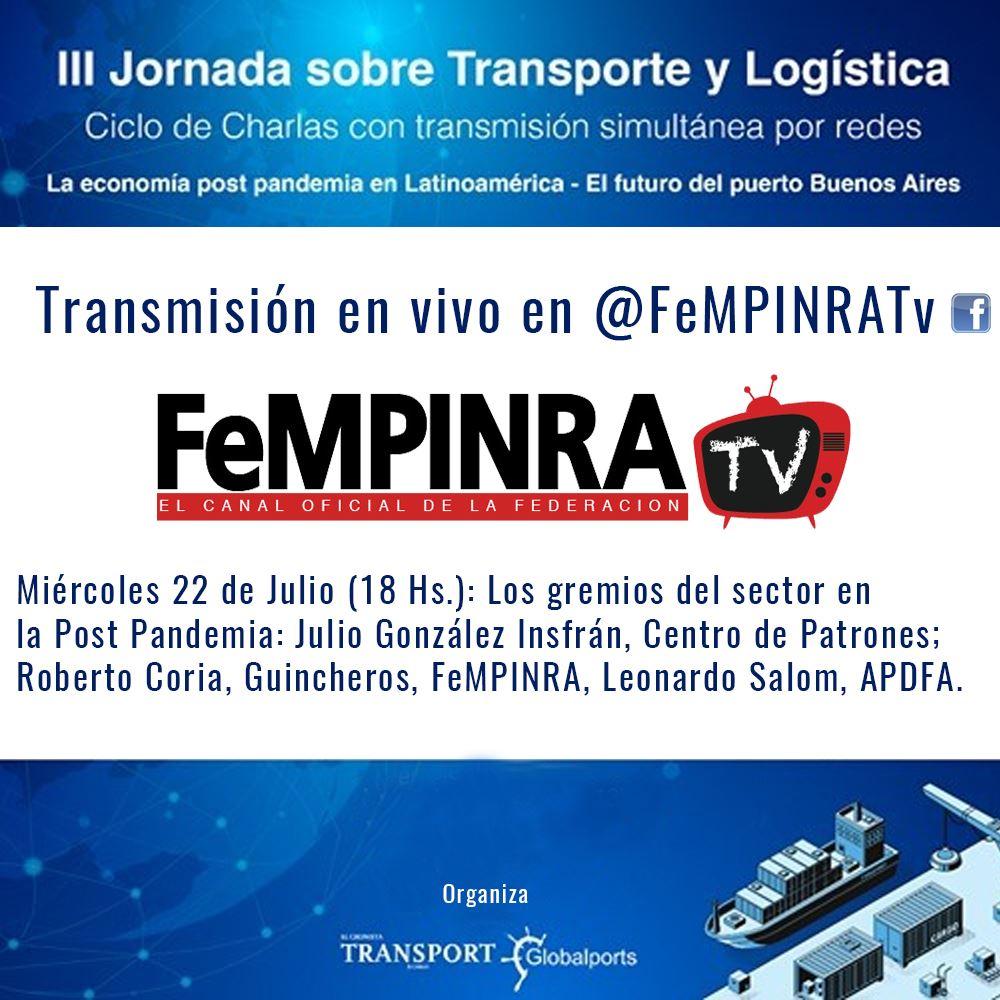 III Jornada sobre Transporte y Logística - Transmisión en vivo Fempinra Tv